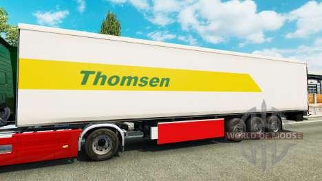Thomsen skin for the trailer for Euro Truck Simulator 2