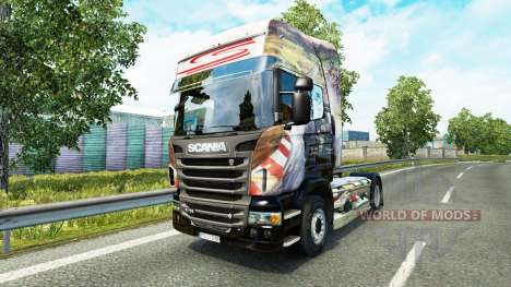 Airton Senna skin for Scania truck for Euro Truck Simulator 2