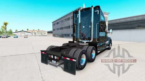 Skin Camo Stripes on a Kenworth tractor for American Truck Simulator