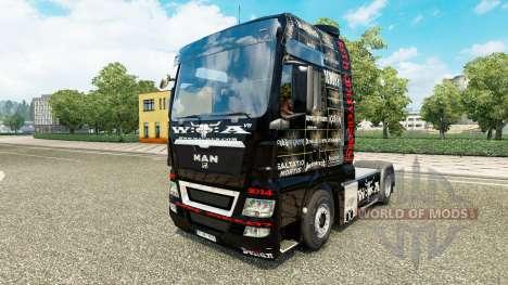 Skin 25 Jahre Wacken for the tractor MAN for Euro Truck Simulator 2