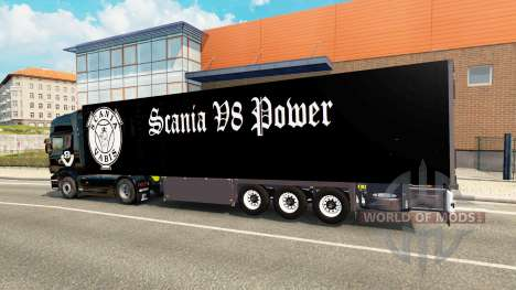 Semi-Trailer Schmitz Cargobull Scania V8 for Euro Truck Simulator 2