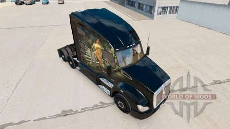 Jungle skin for the Kenworth tractor for American Truck Simulator