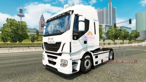 The Pink Plush AG skin for Iveco tractor unit for Euro Truck Simulator 2