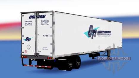 All-metal semitrailer Gordon for American Truck Simulator