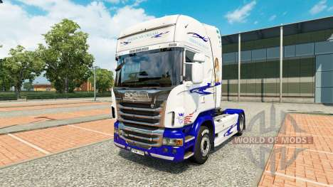 American Dream skin for Scania truck for Euro Truck Simulator 2