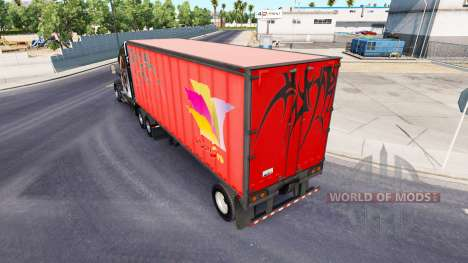 Semi-trailers with real company logos for American Truck Simulator
