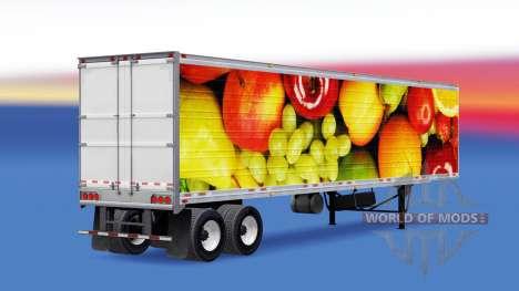 Skin Fresh Fruits in reefer semitrailer for American Truck Simulator