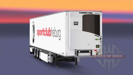 Semi-trailer Chereau SC Freiburg for Euro Truck Simulator 2