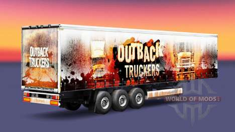 Outback Truckers skin on the trailer for Euro Truck Simulator 2