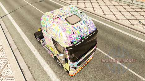 Skin Psychedelic on the truck Iveco for Euro Truck Simulator 2
