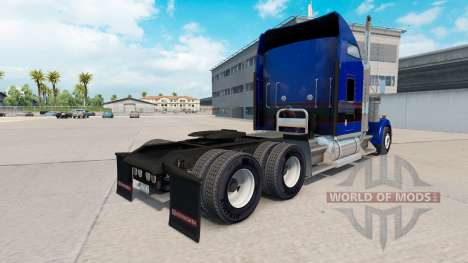 Skin Black & Blue Vintage tractor on Kenworth W9 for American Truck Simulator