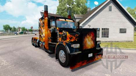 Skins Big Bang on the truck Peterbilt 389 for American Truck Simulator