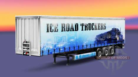 Skin Ice Road Truckers on the trailer for Euro Truck Simulator 2