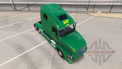 Скин ABF Freight System Inc. на Volvo VNL 670 for American Truck Simulator