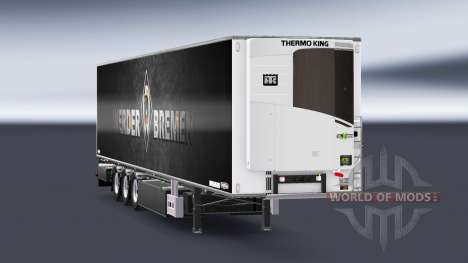 Semi-Trailer Chereau Werder Bremen for Euro Truck Simulator 2