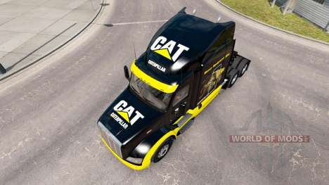 CAT skin for the truck Peterbilt for American Truck Simulator