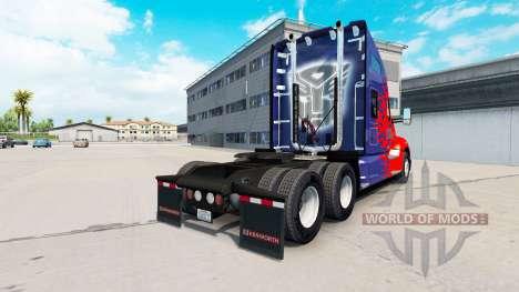 Skin for Optimus Prime truck Kenworth for American Truck Simulator