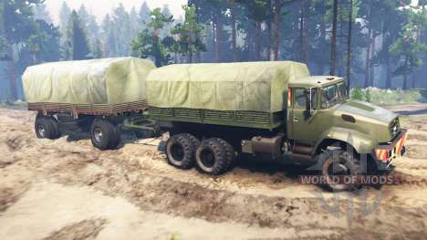 KrAZ-65032 for Spin Tires