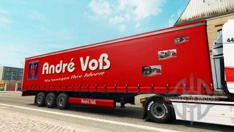 Andre Voss skin for the trailer for Euro Truck Simulator 2