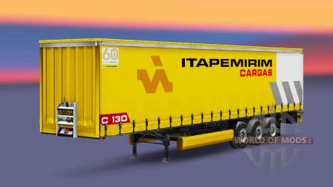 Itapemirim Cargas skin for the trailer for Euro Truck Simulator 2