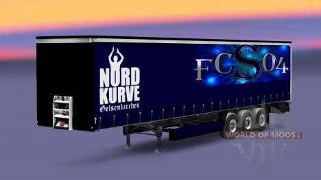 Skin FC Schalke 04 on semi-trailer for Euro Truck Simulator 2