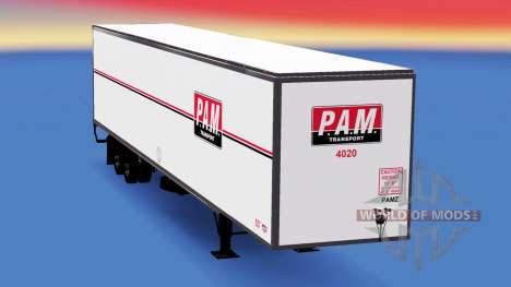 All-metal semitrailer PAM for American Truck Simulator