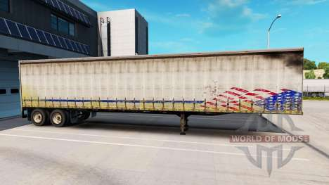 Old curtain semi-trailer for American Truck Simulator