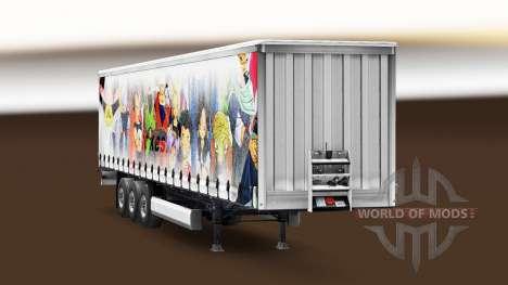 Skin Dragon Ball on the trailer for Euro Truck Simulator 2