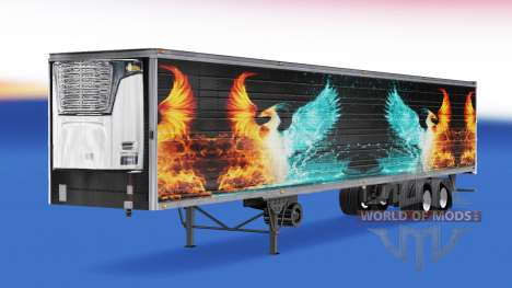 Skin CS Logistics 01 on the semitrailer-the refr for American Truck Simulator