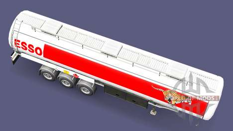 ESSO fuel trailer for Euro Truck Simulator 2