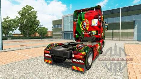 Skin Portugal Copa 2014 for Scania truck for Euro Truck Simulator 2