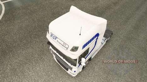 KSF Transport skin for DAF truck for Euro Truck Simulator 2