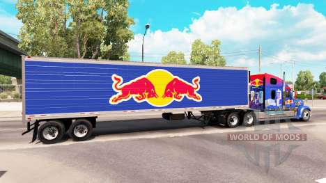Skin Red Bull on the semitrailer-the refrigerato for American Truck Simulator