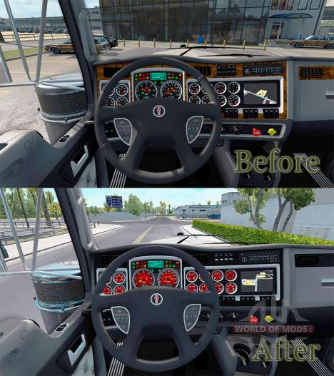 Red color devices have a Kenworth W900 for American Truck Simulator