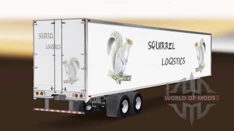 The Squirrel Logistics skin for the trailer for American Truck Simulator
