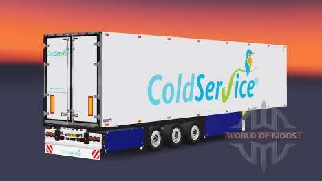 Semitrailer refrigerator Schmitz Coldservice for Euro Truck Simulator 2