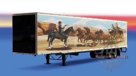 All-metal semi-trailer The Bandit for American Truck Simulator