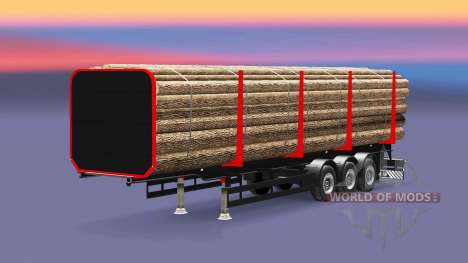 A semi-trailer truck for Euro Truck Simulator 2