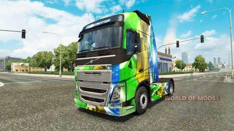 Brasil 2014 skin v3.0 for Volvo truck for Euro Truck Simulator 2