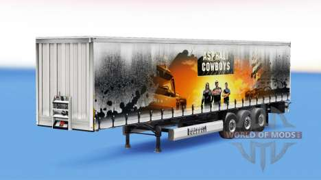 Asphalt Cowboys skin on the trailer for Euro Truck Simulator 2