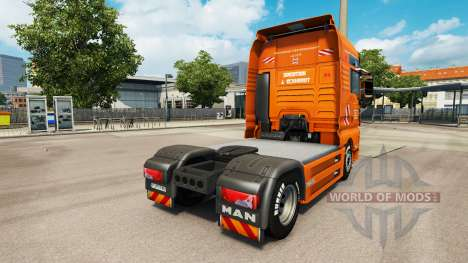 The J. Eckhardt Spedition skin for truck MAN for Euro Truck Simulator 2