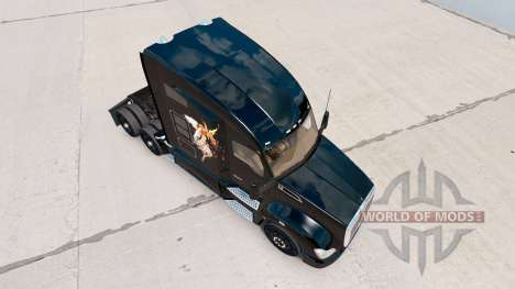 Skin Good vs Evil on a Kenworth tractor for American Truck Simulator