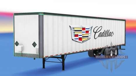 Skin Cadillac metal trailer for American Truck Simulator