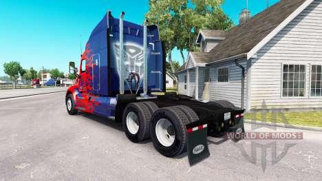 Optimus Prime skin for the truck Peterbilt for American Truck Simulator