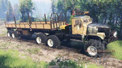 KrAZ-255 [piece of iron] v4.0 for Spin Tires