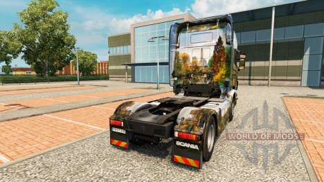 Skin Central Park for truck Scania for Euro Truck Simulator 2