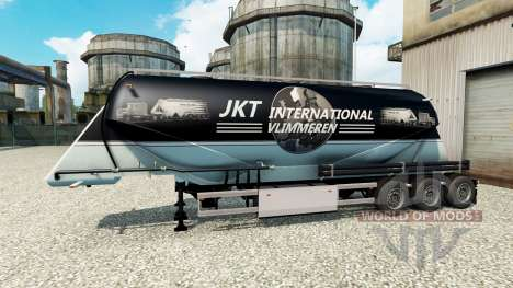 JKT International skin for the semitrailer-cemen for Euro Truck Simulator 2