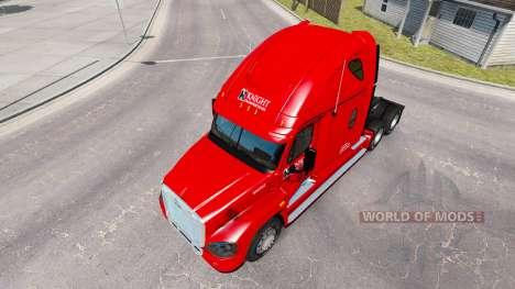Skin on Knight truck Freightliner Cascadia for American Truck Simulator