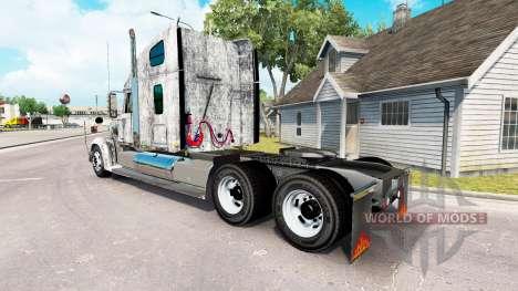 Skin Grunge Metal on the truck Freightliner Coro for American Truck Simulator