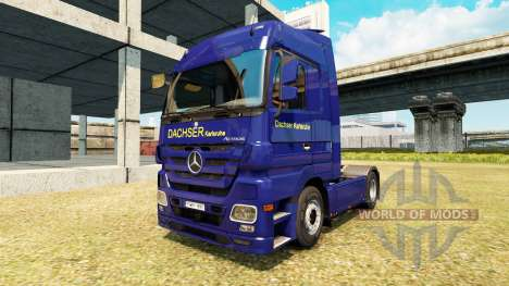 Скин Dachser Karlsruhe v2.1 на Mercedes-Benz for Euro Truck Simulator 2
